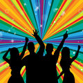 Il dancing della discoteca indica la discoteca joy and parties Fotografie Stock Libere da Diritti