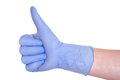 Il dottore Giving Thumbs Up Sign Fotografie Stock Libere da Diritti
