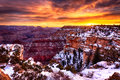 Il Grand Canyon magnifico ad alba Immagine Stock
