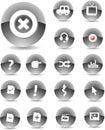 Il nero delle icone di Web Immagini Stock