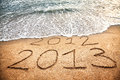 Il nuovo anno 2013 sta venendo Fotografia Stock