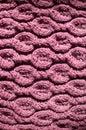 Il primo piano su bella lana porpora ha tricottato l immagine del tessuto Immagine Stock Libera da Diritti