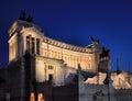 Il Vittoriano at night Royalty Free Stock Photo