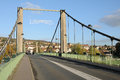 Ile de france city of triel sur seine the suspension bridge Stock Photography
