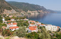Ilia village north euboea greece is a picturesque in Royalty Free Stock Photos