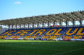 Ilie oana stadium of petrolul ploiesti empty seats football Royalty Free Stock Photo