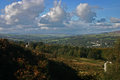 Ilkley moor and a view over and the wharfe valley Royalty Free Stock Image
