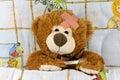 Ill brown Teddy-bear