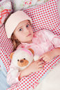 Ill little girl Royalty Free Stock Photography