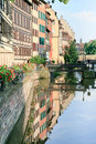Ill river canal in old town (Strasbourg, France) Royalty Free Stock Photos