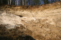 Illegal mining extraction of natural aggregates causing environmental devastation Stock Photos