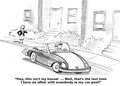 Illicit affair in work car pool business cartoon this is the last time the businesswoman has a love with someone the Royalty Free Stock Photos