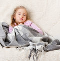 Illness child Royalty Free Stock Image