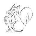 Illstration of the cheerful and smiling the character squirrel Royalty Free Stock Photo