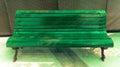 Illuminate Green Bench Royalty Free Stock Photo