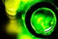Illuminated Beer Bottle Royalty Free Stock Photo