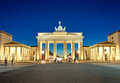 The illuminated Brandenburg Gate at dawn Royalty Free Stock Photo