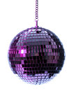 Illuminated disco ball white background Royalty Free Stock Images