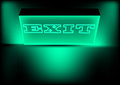 Illuminated exit sign Stock Photos
