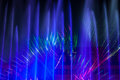 Illuminated fountain during klangwelle exhibition in bonn germany Royalty Free Stock Images