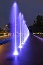 The illuminated fountain at night Royalty Free Stock Image
