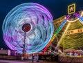 Illuminated Giant Ferris Wheel Amusement ride Royalty Free Stock Photo
