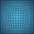Illuminated grid sphere vector illustration Stock Photo