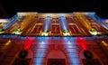 Illuminated opera house in night Kiev Royalty Free Stock Photo