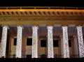 Illuminated opera house in night Kiev Royalty Free Stock Photo
