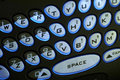 Illuminated PDA Keyboard Stock Images