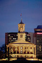 Illuminated state capitol of tennessee at dusk nashville Royalty Free Stock Photography