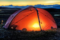 Illuminated Tent Royalty Free Stock Images