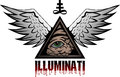 Illuminati all seeing eye pyramid symbol Stock Photos