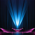 Illumination of a scene during concert Royalty Free Stock Photography