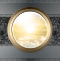 Through the illuminator, abstract science and travel backgrounds Royalty Free Stock Photo