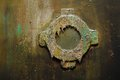 Illuminator on a rusty metal wall steampunk style Stock Photos