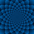 Illusion art abstract flower mandala decorative pattern blue background square Royalty Free Stock Photo