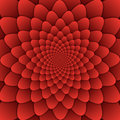 Illusion art abstract flower mandala decorative pattern red background square