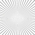 Illusion rays. Vector Illustration. Retro sunburst background. Grunge design element.Black and white backdrop. Good for pictures, Royalty Free Stock Photo