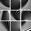 Illusion of whirl motion abstract backgrounds set vector art Royalty Free Stock Images