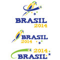 Illustartion brasil 2014 with parrot Royalty Free Stock Photo