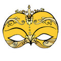 Illustrated abstract mask Royalty Free Stock Image