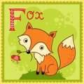 Illustrated alphabet letter f and fox this is file of eps format Stock Images