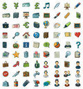 Illustrated clip art set Royalty Free Stock Image