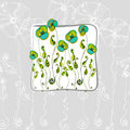Illustrated cute flowers Royalty Free Stock Photography