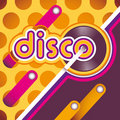 Illustrated disco background. Stock Images
