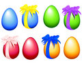 Illustrated easter eggs Royalty Free Stock Photos
