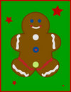 Illustrated Gingerbread Man Royalty Free Stock Photo