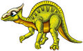 Illustrated green dinosaur Royalty Free Stock Photography