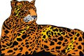 Illustrated jaguar jungle white background Royalty Free Stock Photos